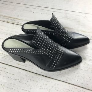 1. State Lon Leather Casual Studded Mule
